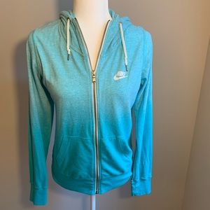 Nike Full Zip Hoodie Ombré Blue Size Small